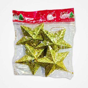 Golden Stars Christmas Tree Decoration Ornaments - Model 1010