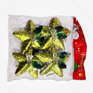 Golden Stars Christmas Tree Decoration Ornaments - Model X2