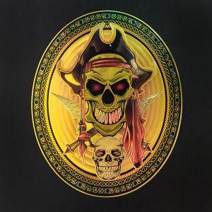 Green Double Skeleton Scary Halloween 3D Metallic Postures/Stickers