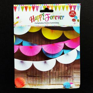 Half Paper Fan Decorations - Yellow