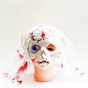 Half Mask Blood Skeleton Mask