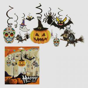 Halloween Decoration Swirls - Set of 12