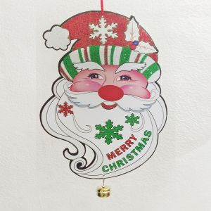 Hanging Santa Face with Bell