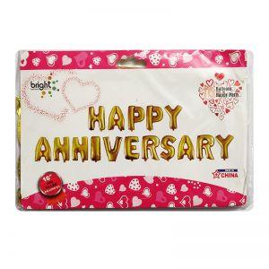 Happy Anniversary Alphabet Foil Balloons
