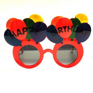 Happy Birthday Balloon Party Goggle - Red