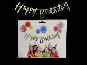 Happy Birthday Bunting - Golden - Model 100X