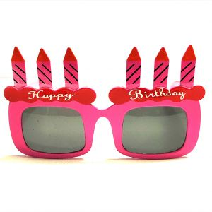 Happy Birthday Candle Party Goggle - Pink