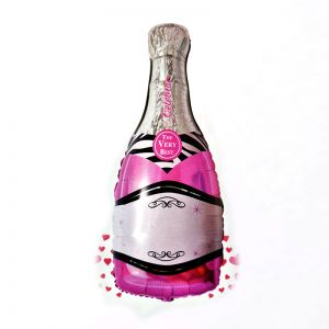 Champagne Shape Pink Foil Balloon