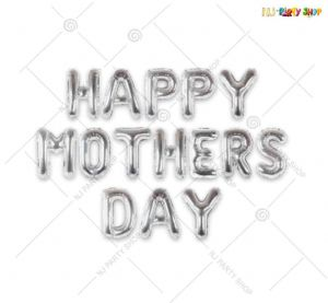 Happy Mother's Day Foil Silver Banner - Set of 15