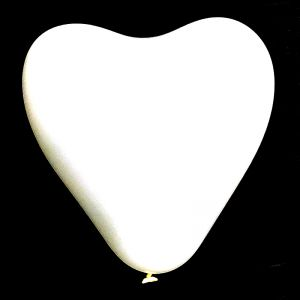 Heart Shape Balloons - White - Set of 25