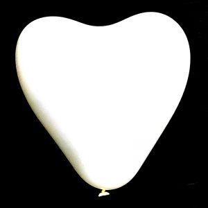 Heart Shape Balloons - White - Set of 25