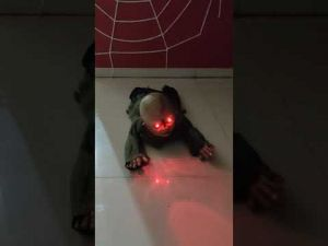 Crawling Crying Child Scary Halloween Toy