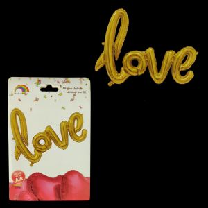 Love Foil Balloon - Golden