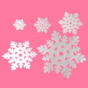Glitter Snowflakes Xmas Decorations