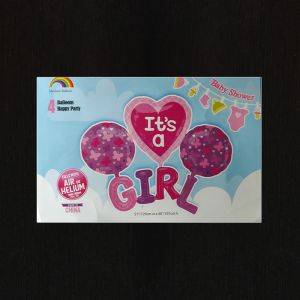 It's A Girl 5 Pieces Set Foil Balloon
