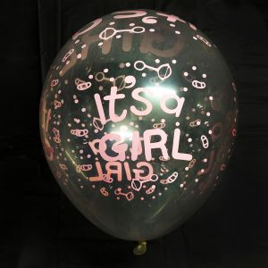 It's A Girl Balloons - Pink - Set of 25