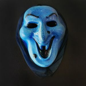 Laughing Ghost Scarry Horror Mask for Halloween - Blue Color