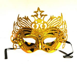 Masquerade Ajooba Eye Mask - Metallic Golden