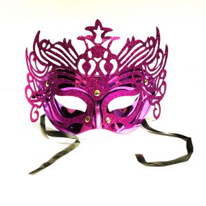 Masquerade Ajooba Eye Mask - Metallic Purple