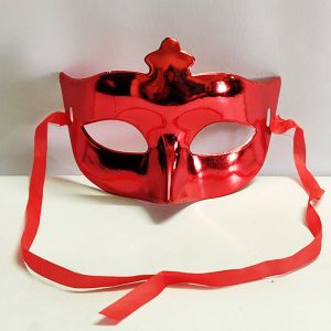 Masquerade Eye Mask - Metallic Red