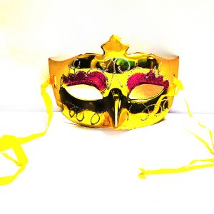 Masquerade Glitter Eye Mask - Metallic Golden