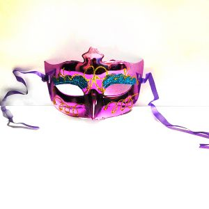 Masquerade Glitter Eye Mask - Metallic Purple