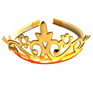 Metallic Crown - Golden