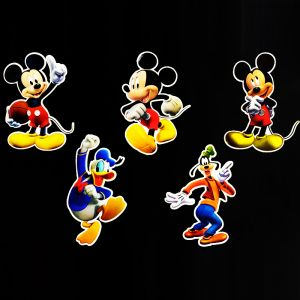 Mickey Mouse Theme Cutouts/Stickers Decoration - Set of 5 - 1FT Height