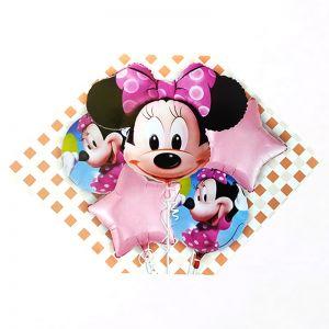 Minnie Mouse 5 Pieces Set Foil Balloon
