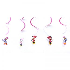 Minnie Mouse Theme Swirls/Streamers - Set of 5
