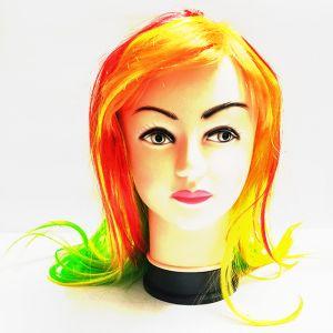 Multi Colour Long Straight Hair Wig