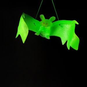 Neon Green Bat Hanging Scary Halloween Decoration