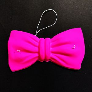 Neon Party Bow Accessories - Pink