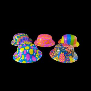 Neon Party Caps - Multi - Set of 1