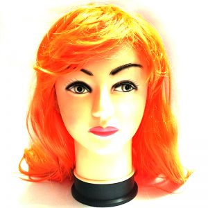 Orange Long Straight Hair Wig