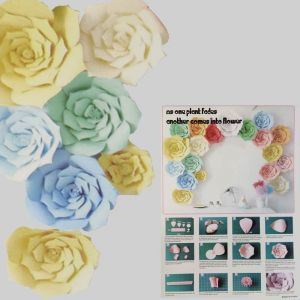 Paper Flower Decoration - Set Of 2