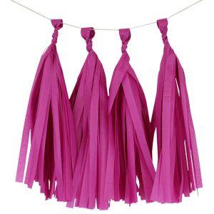 Paper Tassels Decoration -   Dark Pink