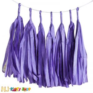 Paper Tassels Decoration - Purple