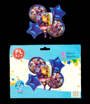 Paw Patrol Foil Balloons - Set Of 5