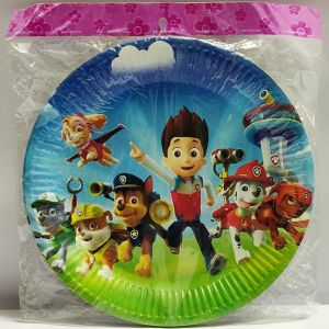 Paw Patrol Theme Paper Plates - Set of 10