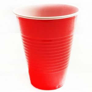 Ping Pong Red Color Party Glasses - Set of 10