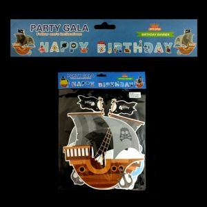 Pirate Theme Happy Birthday Banner