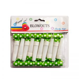 Polka Dot Whistle - Green