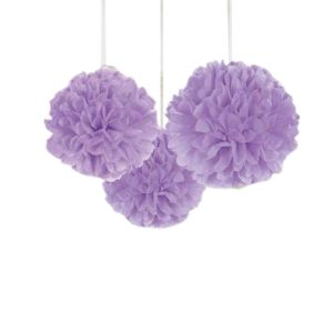 Purple Pom Pom - Set of 1