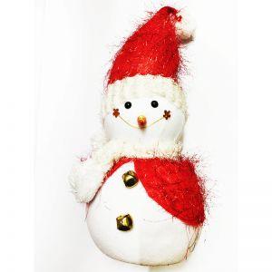 Red Christmas Snowman - Big