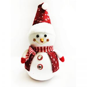 Red Christmas Snowman - Small