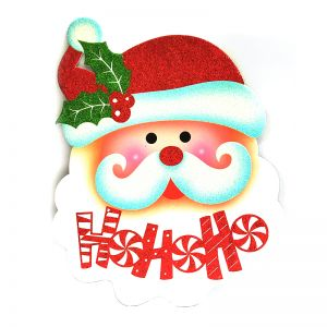 Santa Face Xmas Decoration - Sunboard Banner-Stickers