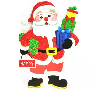 Santa with Gifts Xmas Decoration - Sunboard Banner-Stickers