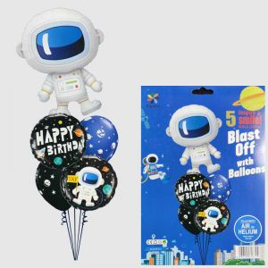 Space Theme Foil Balloon - Set of 5