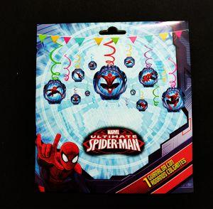 Spiderman Swirls Hanging - Set of 12